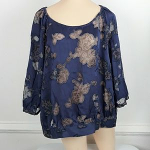 THE LIMITED SHEER 3/4  SLEEVES BLOUSE